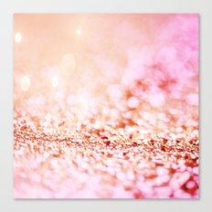 Pink shiny glitter - Sparkle Valentine Backdrop Canvas Print
