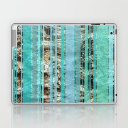 Blue & Wood Laptop & iPad Skin