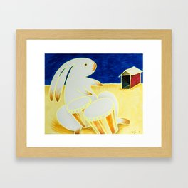 Bongo Bunny by the Old Tin Shack Framed Art Print