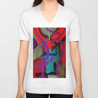 surreal V-neck T-shirts featuring Surreal by takingachancexo