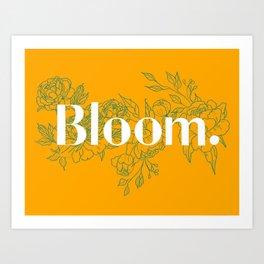 Bloom Mustard Art Print