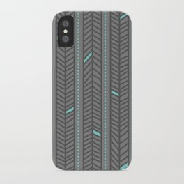Birdsong Feather Stripe iPhone Case