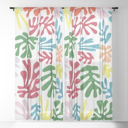 Matisse Pattern 004 Sheer Curtain