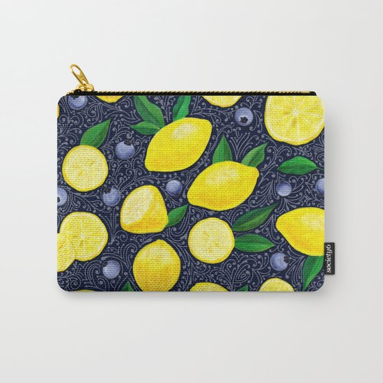 Lemon Blueberry Tart Carry-All Pouch