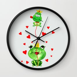 Kiss me Princess Wall Clock