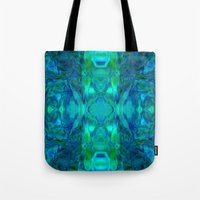 stained glass Tote Bags featuring Stained-glass.  by Assiyam
