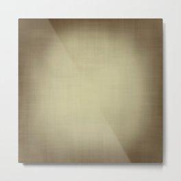 Brown and beige linen look texture Metal Print