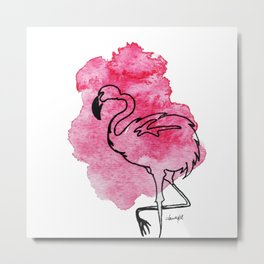 Chill in Pink Metal Print