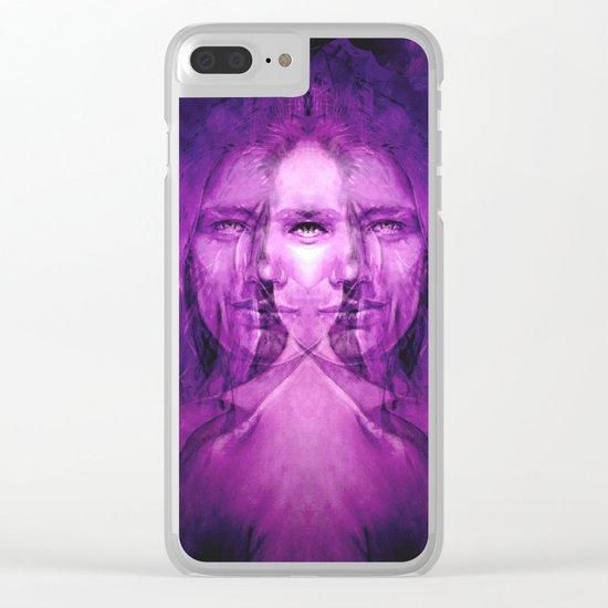 Hemispheres - reloaded - purple Clear iPhone Case