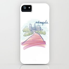Indianapolis Canal Cityscape iPhone Case