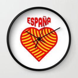 amo españa Wall Clock