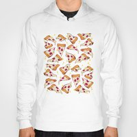 pizza Hoodies featuring pizza by Erin Lowe