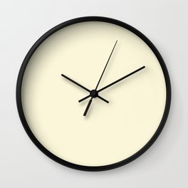 Solid Light Yellow Blonde Color Wall Clock