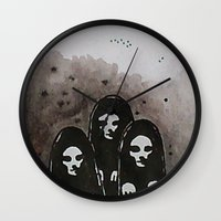 coven Wall Clocks featuring Coven by slakjawdyokel
