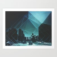 tron Art Prints featuring tron. by Broc James