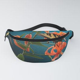 Eastern Tiger Swallowtail Butterfly On Orange Tiger Lily Fanny Pack