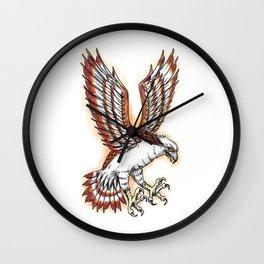 Osprey Sea Hawk Swooping Tattoo Wall Clock