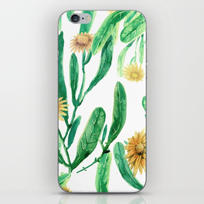 yellow flowers on sunny day iPhone Skin