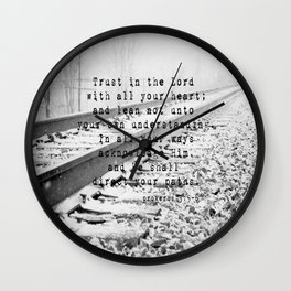 Trust in the Lord Proverbs 3:5-6 Wall Clock