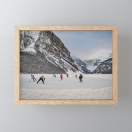 Shinny at Lake Louise Framed Mini Art Print