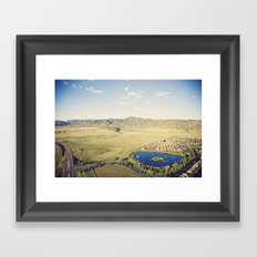 more to life::denver Framed Art Print