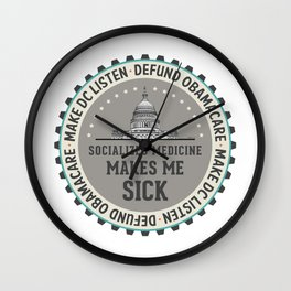 Defund Obamacare Wall Clock