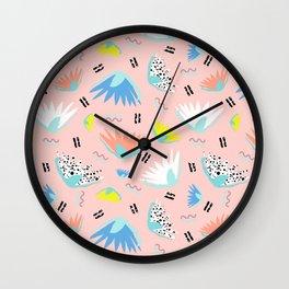 Postmodern Lotus Toss Wall Clock