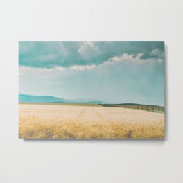 Harvest Shadow Metal Print