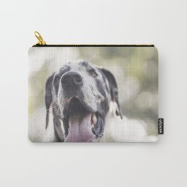 Harlequin Great Dane Dog Carry-All Pouch