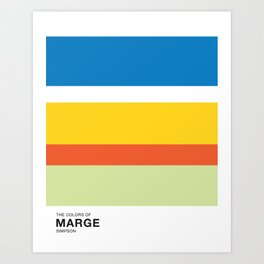 The Color of - MARGE Simpsons Art Print
