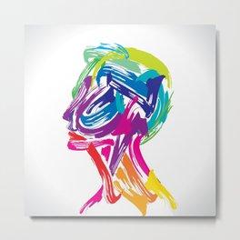 Rainbow abstract portrait Metal Print