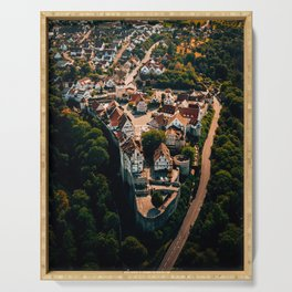 Aerial view over Vellberg Baden Württemberg Germany Serving Tray
