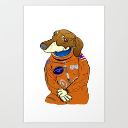 Dachshund Curiosity Rover Art Print
