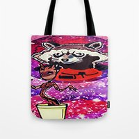 superheros Tote Bags featuring Buddies by grapeloverarts