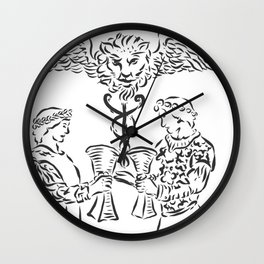 THE TWO OF CUPS Wall Clock