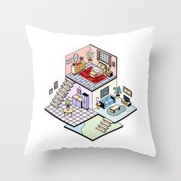 Iso House Throw Pillow