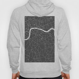 Gray on White London Street Map Hoody