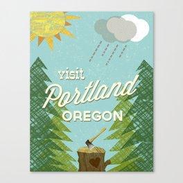 Portland Stumptown Canvas Print