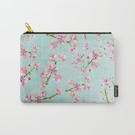 Spring Flowers - Cherry Blossom Pattern Carry-All Pouch
