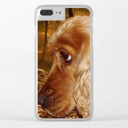 Dog Cocker Spaniel Clear iPhone Case