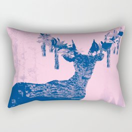Hirsch Blue Rectangular Pillow