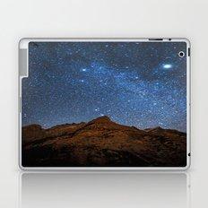 Starry Night: Brilliant Blue Stars Behind Rocky Mountain Laptop & iPad Skin