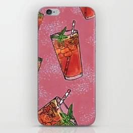 THERE'S ALWAYS TIME FOR ICE TEA! - PINK iPhone Skin