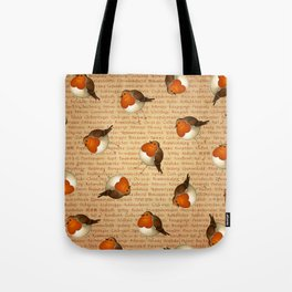 Chubby Erithacus Tote Bag
