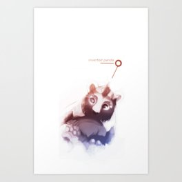 The Inverted Panda Art Print