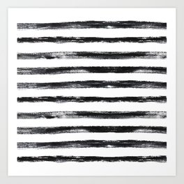 Grungy stripes Art Print