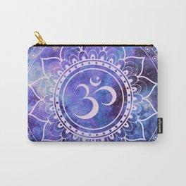 Om Mandala Purple Lavender Blue Galaxy Carry-All Pouch