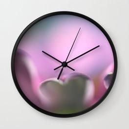 Purlple flower petal macro Wall Clock