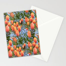 Paint by Number Tulip n Forget Me Nots Field Stationery Cards