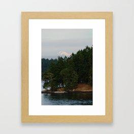 A glimpse at Mount Baker, WA Framed Art Print